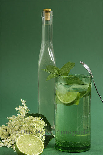 Elder's flower syrup summer drink