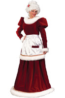 Velvet Mrs Claus Adult Costume