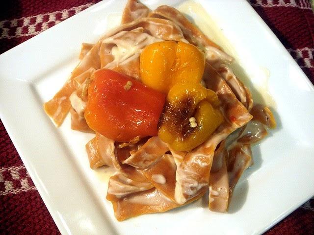 Classico Light Creamy Alfredo Sauce With Homemade Tomato Pasta The Running Foodie