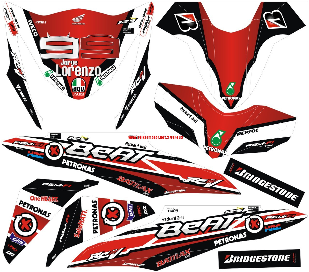 Kumpulan Modifikasi Honda Beat Pop Merah Terbaru Motor Cross