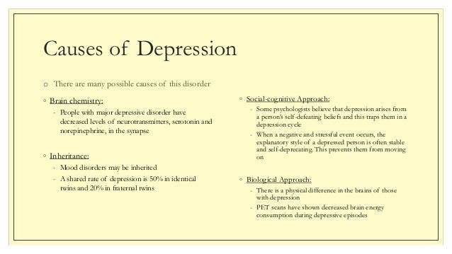 Suffering from Major Depressive Disorder