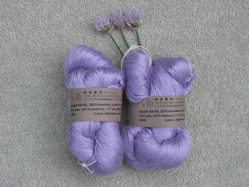 Habu bamboo laceweight yarn