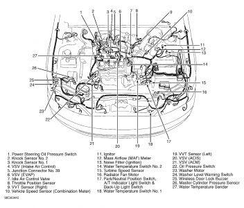 1999 Lexus ES 300 Knock Sensor: Where Is the Knock Sensor ...