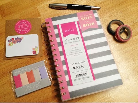 Day Designer for Blue Sky from Target 2015-2016 {my daily planner ...