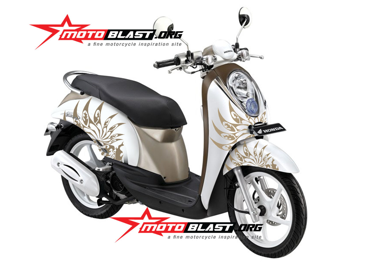 Kumpulan Modifikasi Striping Motor Honda Scoopy Terbaru Earth