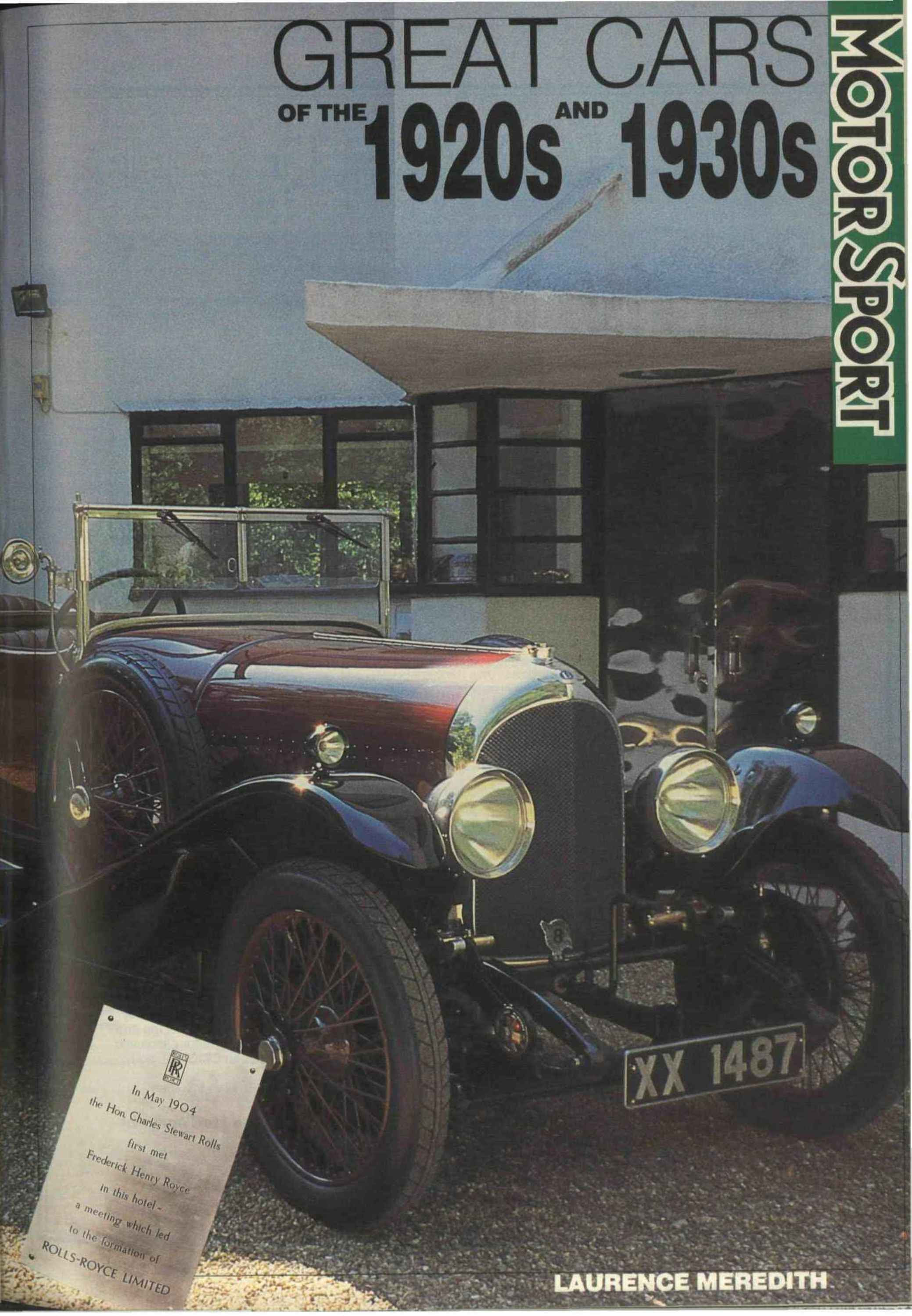 Great Cars of the 1920s and 1930s   Motor Sport Magazine ...