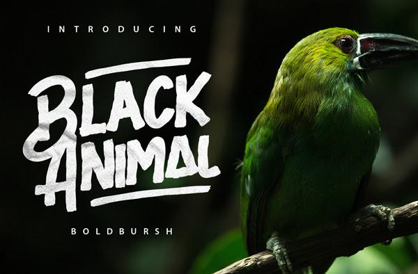 Negro Animal gratuito Brush Fuente
