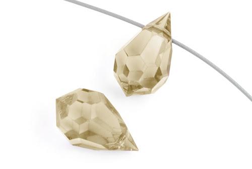 mimc681honey15 Preciosa Machine Cut Crystal - 9 x 15 mm Briolette Drop - Crystal Honey (1)