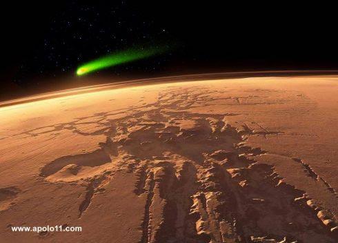 Cometa C/2013 A1 Siding Spring visto de Marte