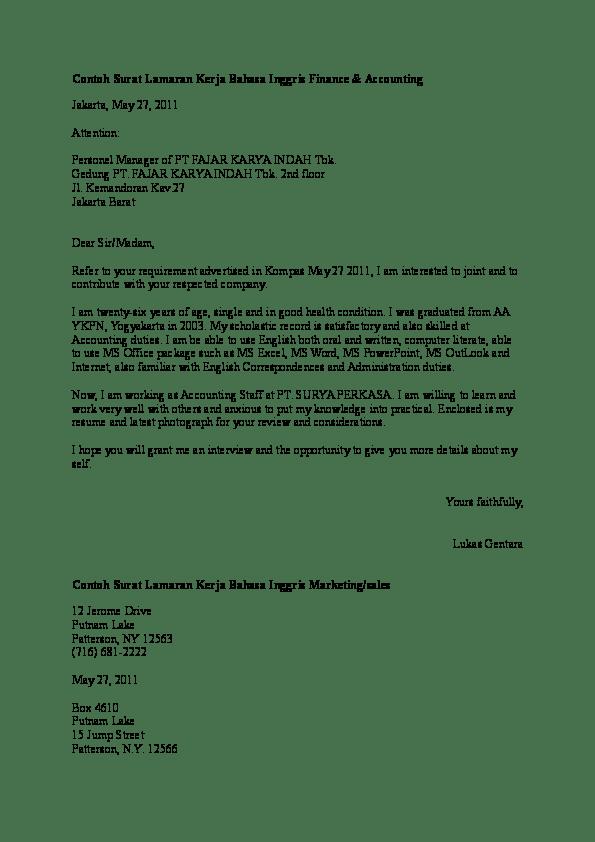 Contoh Surat Lamaran Kerja Office Boy Berbagi Contoh Surat
