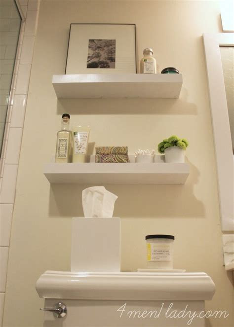 diy shelves   bathroom menladycom bathroom ideas