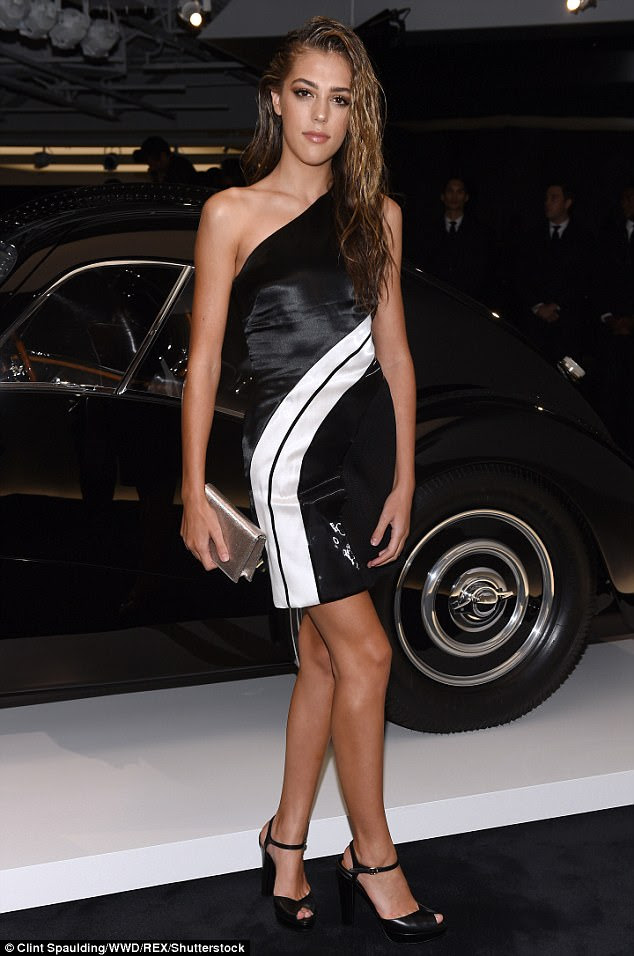Fancy: Sistine Stallone was spotted at Ralph Lauren's show during New York Fashion Week on Tuesday night