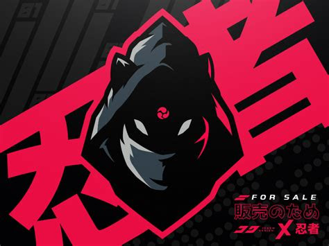 ninja kitsune mascot logo logo logo keren desain