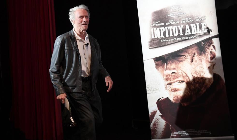 Clint Eastwood, antes de la clase magistral que ofreció ayer en el festival de Cannes.