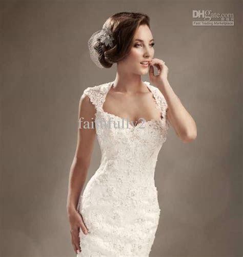 Winter Mermaid Wedding Dresses Cap Sleeves Lace Beaded