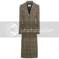PRADA - Karierter Mantel aus Schurwolle