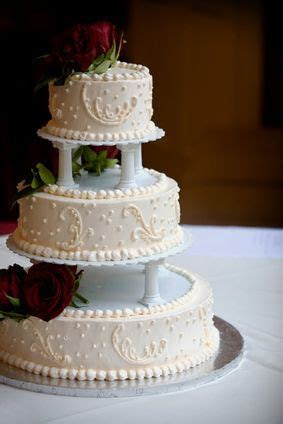 Traditional wedding cake, without tier separators.   Wedding