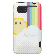 Kawaii Sun & Rainbow HTC Vivid Covers