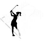 Female Golfer Silhouette Yard Art Woodworking Pattern - fee plans from WoodworkersWorkshop® Online Store - golfers,golfing,females,womans,womens,yard art,painting wood crafts,scrollsawing patterns,drawings,plywood,plywoodworking plans,woodworkers projects,workshop blueprints