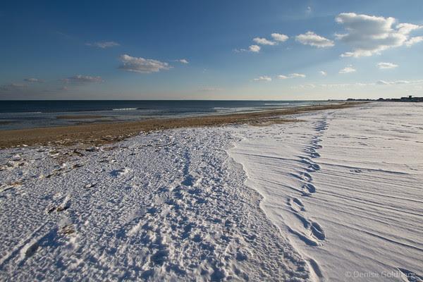 snow on Hampton Beach