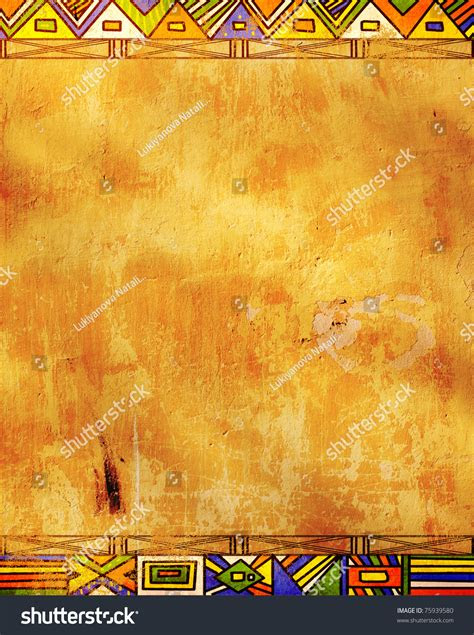 grunge background african traditional patterns stock