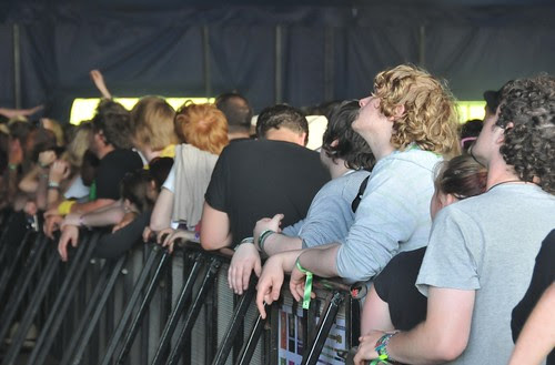 maccabees fans at the barrier