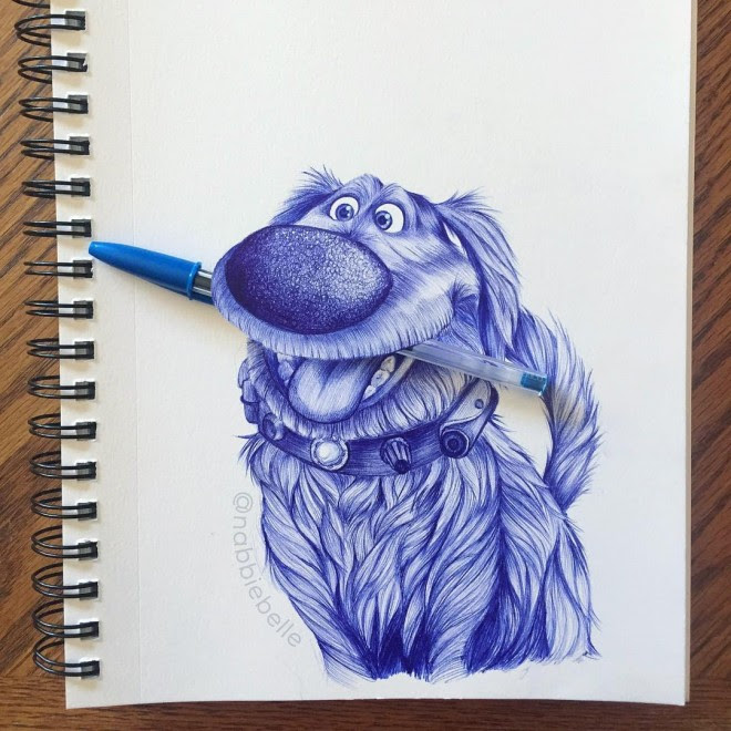 3d drawing dog