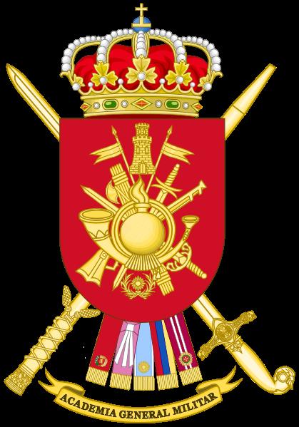 Archivo: Escudo de Armas del Ejército Español General Militar Academy.svg