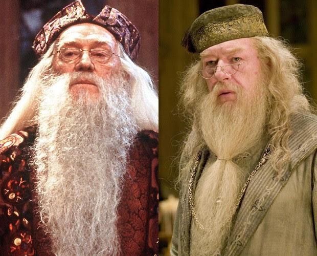 MICHAEL GAMBON E RICHARD HARRIS, os dois Dumbledor de 'Harry Potter' (Foto: reprodução)