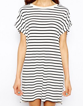 Image 3 of Pull&Bear Stripe Oversized Dress