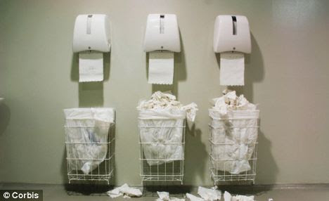 Looks can be deceiving: Despite having a reputation for being messy, hand towels are more hygienic than dryers because they dry hands more quickly and physically remove germs