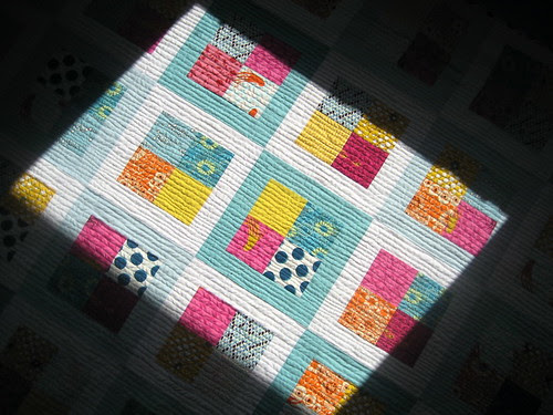 quilt with dramatic lighting