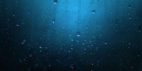 Blue Minimalistic Rain Twitter Cover & Twitter Background