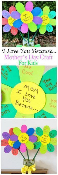 I Love you Because  Mother's Day Craft for Kids