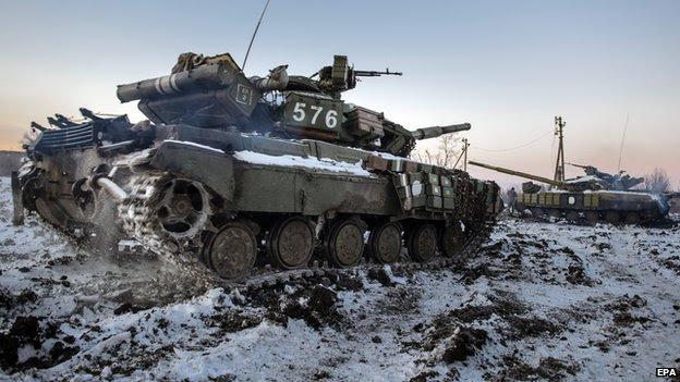 Ukrainian tanks, 31 Dec 14