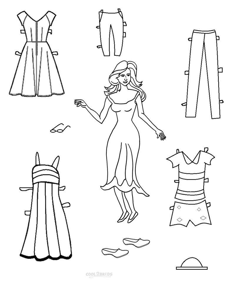 paper doll printable - 850×964