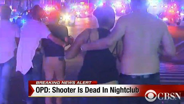 Local TV helicopter images of the Pulse gay club shooting