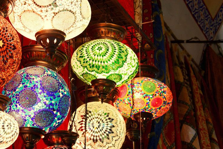 mosaic lanterns-remind me of the Moroccan parts of Granada