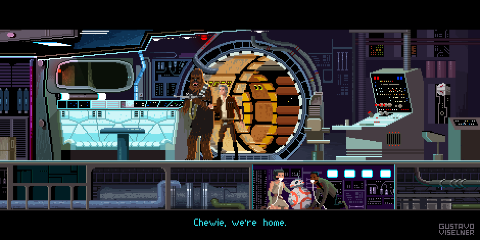 Star Wars Pixel Art by Gustavo Viselner