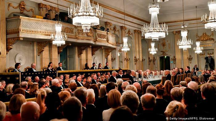 Reunião anual da Academia Sueca em Estocolmo, em 2017