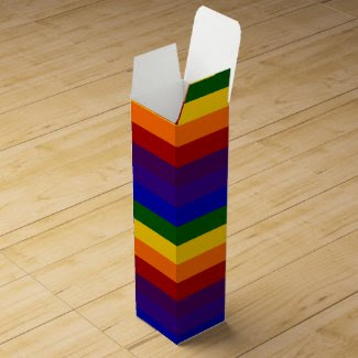 Rainbow Stripes Wine Boxes