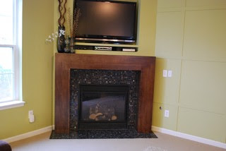 Modern Fireplace Remodel modern family room