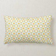 Orange/Blue Pattern Pillow