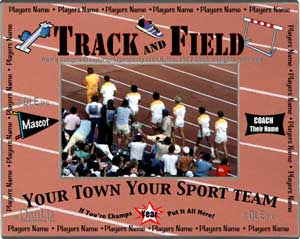 Personalized Sports Picture Frames Track And Field Team Frame It