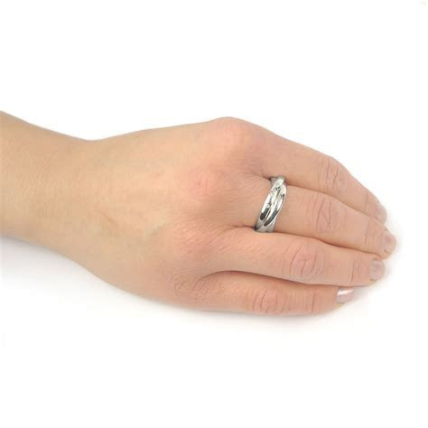3mm Diamond Russian Wedding Ring in 18ct Gold or Platinum
