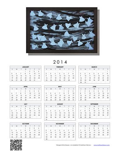 2014 Calendar - Stringed White Dresses