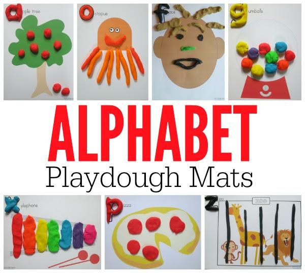 Alphabet Playdough Mats (FREE Printable Mats)