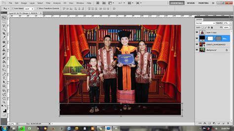 tutorial  membuat background foto wisuda prialangka