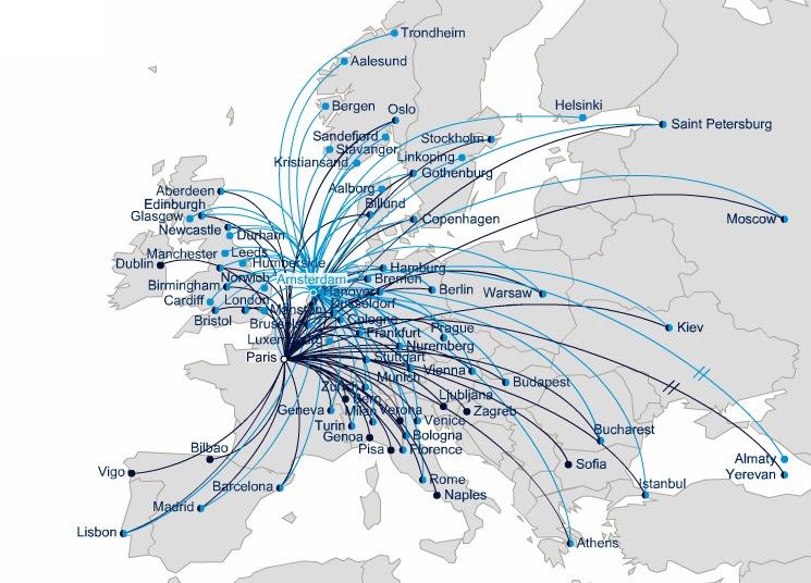 Air France Destination Map - GOOGLESAKI