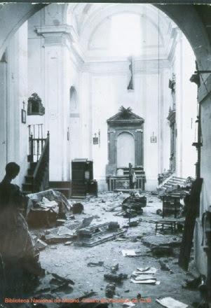 Daños en la Iglesia de San Miguel (Toledo) durante la Guerra Civil